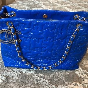 Stunning Limited Edition Electric Blue Chanel Bag